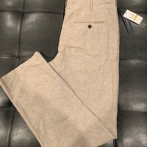 NWT Perry Ellis Men's Linen Pants Size 33 x 32